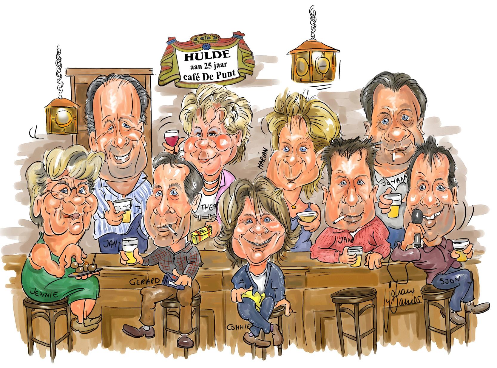 Karikatuur-Café-de-Punt